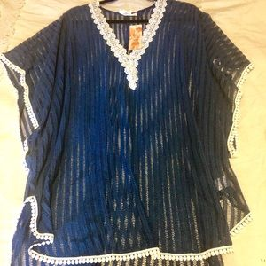 NWT Francesca's bathing suit cover/poncho